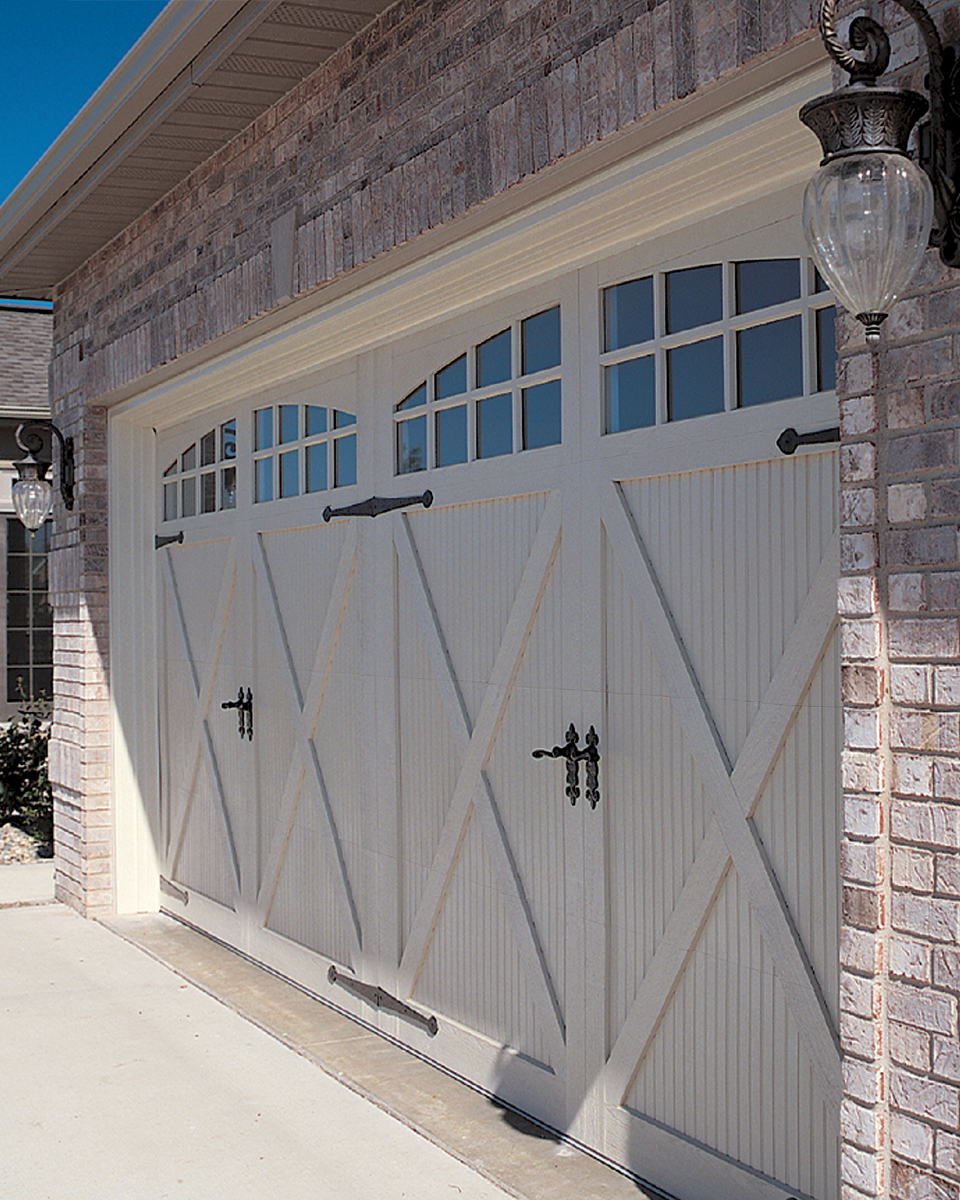 Carriage garage doors - Chi Fiberglass Carriage House Garage Door Model 5534a