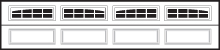 CHI Residential Garage Door Window Insert 2 2-Piece Arched Stockton Long